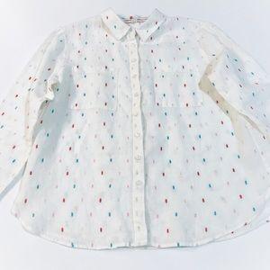 Boden Long Sleeve Linen Button-Down
